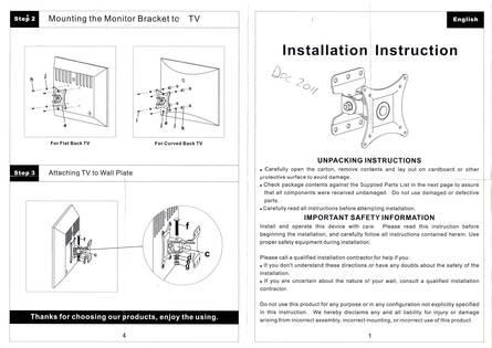 Ultimate Mounts Um201 Tilt And Turn Tv Wall Brackets
