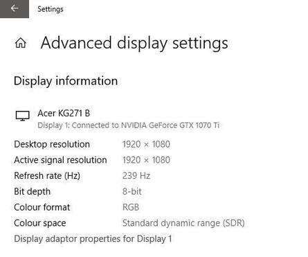 Acer KG1 Series KG271B 27