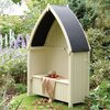 Winchester Wooden Garden Arbour Seat Pressure Treated Timber