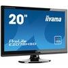 Iiyama ProLite E2078HD (20 inch) LED Backlit LCD Monitor 1000:1 250cd/m2 (1600x900) 5ms D-Sub/DVI-D (Black)