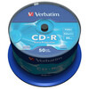 Verbatim 43745 52x CD-R DataLifePlus Inkjet Professional - 50pk Spindle