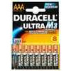 Duracell Battery Ultra Pk4 AAA 75051959--Duracell Ultra M3 Batteries, the most powerful Duracell batteries, specially designed to maximise performance in high-tech appliances. The M3 guarantees more energy, efficiency and power. AAA.