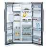 Neff K3990X7GB American Style Fridge Freezer, Stainless Steel