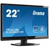 Iiyama ProLite E2282HS (21.5 inch) LED Backlit LCD Monitor 1000:1 250cd/m2 (1920 x1080) 2ms VGA/DVI/HDMI (Black)