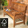 Robert Dyas FSC 3-Seater Garden Fence Bench