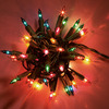 40 Multi Coloured Traditional Indoor Static 'Classic' Fairy Lights on Green Cable