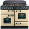 Rangemaster CLAS110NGFCR/C CLASSIC 110cm Gas Range Cooker, Cream/Chrome