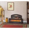 Dimplex Black with brass effect Radiant Electric Fire YEO20 Yeominster