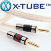 QED XT 400 Reference Speaker Cable, Single 3 Metre length Terminated With 4x4mm Airloc Forte Metal Back Banana Plugs