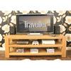 Baumhaus Aston Oak Widescreen Open Television Cabinet