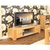 Baumhaus Aston Oak Widescreen Television Cabinet