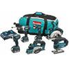 Makita DLX6012PM 18V LXT Cordless 6 Piece Kit 3 x 4ah Li-ion Twin Battery Charger Bag