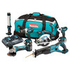 Makita DLX6000PM 18V li-ion 6 Piece Cordless Kit (3 x 4ah Batteries) with Twin Charger