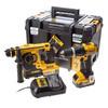 DeWalt DCK206M2T 18v Cordless XR Combi Drill & SDS Hammer Drill with 2 Li-ion Batteries 4ah