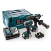 Makita DLX2005MAJ 18 V Cordless DHP458 Combi Drill and DTD146 Impact Driver with Makpac Case