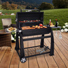 Lokkii M.838B Perfection Full Barrel Charcoal BBQ - Black