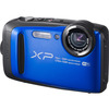 FUJIFILM  XP90 Tough Compact Camera & XP Float Strap Green & Purple Bundle, Green