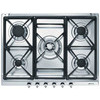70cm Classic 5 Burner Gas Hob c/w Cast Iron Pan Supports (SE70SGH)