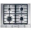 Miele KM2010SS 65cm Wide 4 Burner Gas Hob - Stainless Steel