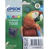 Epson T008 - Print cartridge - 1 x colour (cyan, magenta, yellow, light cyan, light magenta) - 220 pages - blister with RF alarm