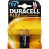 10 x Duracell Plus Power 9V Alkaline 1 Pack