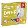 Memorex DVD+RW 4.7GB 4X 5PK Slim Jewel Case