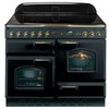 RANGEMASTER  Classic 110 Electric Induction Range Cooker - Black & Chrome, Black