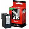 LEXMARK  36 Black Ink Cartridge, Black