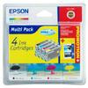 Epson Multipack T0445 - Print cartridge - 1 x pigmented black, pigmented magenta, pigmented yellow, pigmented cyan