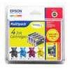 Epson T061 Quad Pack - 1 - black, yellow, cyan, magenta - print cartridge / paper kit