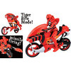 Power Rangers Jungle Fury Super Tiger Moto Set - Red Cycle