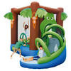 Jungle Bouncy Castle with Slide & Electric Blower Inflates in Minutes