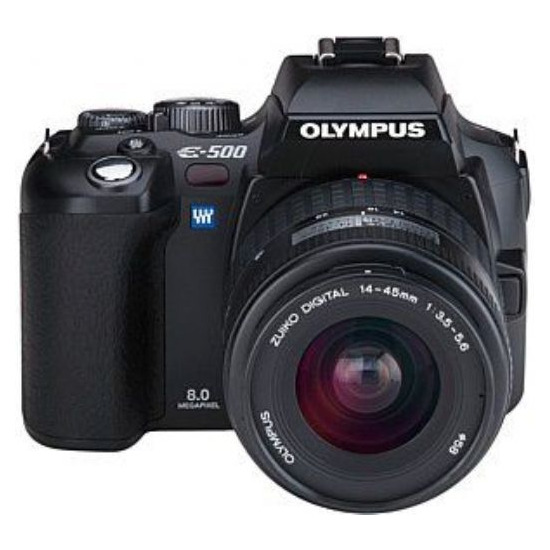 Olympus E-500 with 14-45mm lens