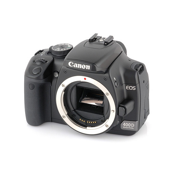 Canon eos 400d with 18 55 and 55 200mm lens