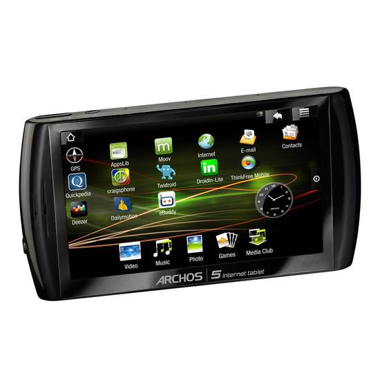 Archos 5 160GB Internet Media Tablet