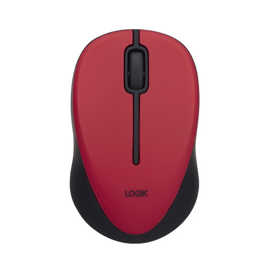 Logik LM212R Wireless Optical Mouse - Red