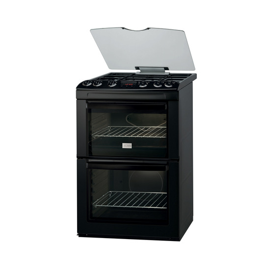 Zanussi ZCG662GNC Gas Cooker - Black