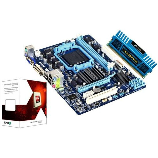 AMD Prebuilt Bundle with Gigabyte GA-78LMT-S2P AM3+ Motherboard AMD FX-4100 Processor and Corsair 4GB Vengeance Blue Memory