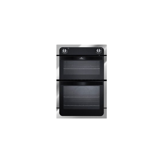NEW WORLD NW901DO Electric Double Oven - White & Black