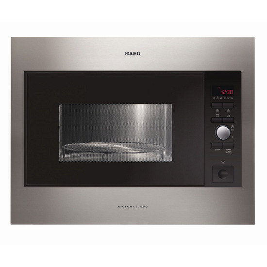 AEG MCD2664E-M Built-in Microwave with Grill - Stainless Steel