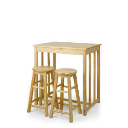 Pine Bar Table & 2 Stool Set Reviews