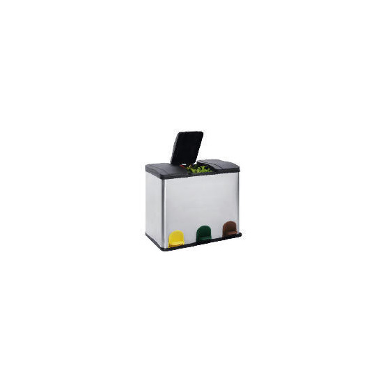 Tesco 3 Section Stainless Steel Recycling Bin
