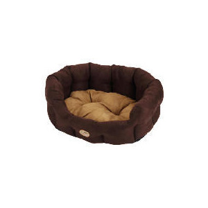 "Photo of Rosewood 20"" Suede Oval Pet Bed Cappuccino Home Miscellaneou"