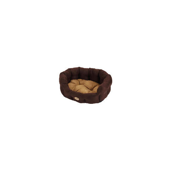 "Rosewood 20"" Suede Oval Pet Bed Cappuccino"