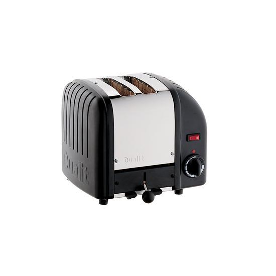 Dualit DB2BK 2-Slice Toaster - Black & Silver