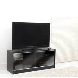 ValuFurniture Black TV Cabinet With Double Sliding Doors Reviews