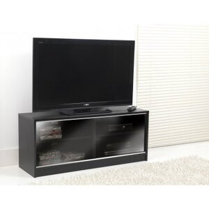 Photo of ValuFurniture Black TV Cabinet With Double Sliding Doors Furniture