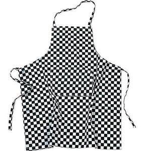 Photo of Black and White Check Apron Kitchen Accessory