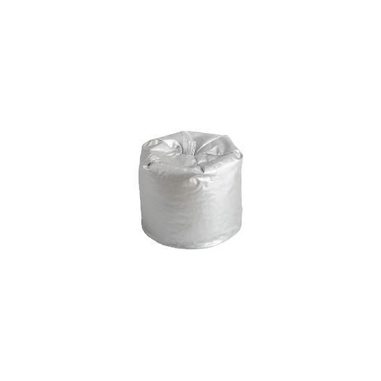 Gloss Metallic Beanbag - Silver