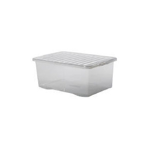 Photo of 45 Litre Large Crate With Lid - Clear Household Storage